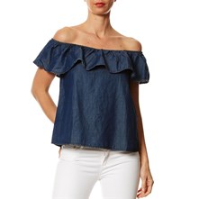 Top - denim azul