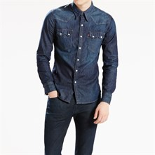 Sawtooth Western - Camicia in jeans - blu jeans