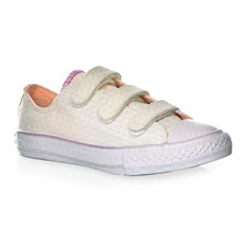 CHUCK TAYLOR ALL STAR 3V OX WHITE/BARELY ORANGE/WHITE - Gympen - ecru