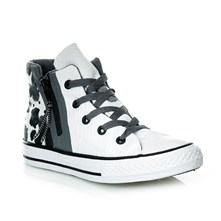 CHUCK TAYLOR ALL STAR SPORT ZIP HI WHITE/BLACK/WHITE - Halfhoge sneakers - bi-color