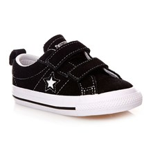 ONE STAR 2V OX BLACK/WHITE - Halfhoge sneakers - zwart