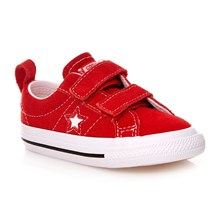 ONE STAR 2V OX RED/WHITE/BLACK - Zapatillas de cuero de ante - rojo