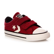 STAR PLAYER 2V OX RHUBARB/EGRET/BLACK - Halfhoge sneakers - bordeaux