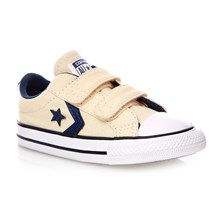 STAR PLAYER 2V OX NATURAL/NAVY/WHITE - Sneakers alte - écru