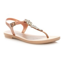 ROMANTIC SANDAL - Chanclas - beige