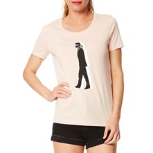 Walking Karl - Camiseta - rosa claro