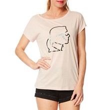 Karl Lighting Bolt - Camiseta - rosa claro