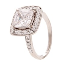 Solitaire Crystal - Ring - weiss