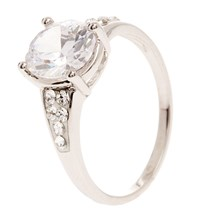 Solitaire Crystal - Anillo - blanco
