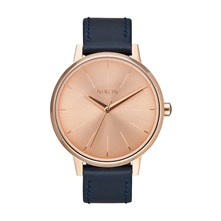 Kensington - Montre en cuir - rose