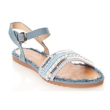 Sandales - denim bleu