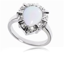 L'Orchis - Ring met zirkoon steen - wit