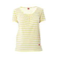 T-shirt Dorotennis jaune et blanc  rayures