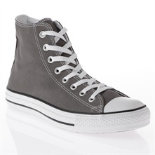 Men's Charcoal Canvas High Top Trainers