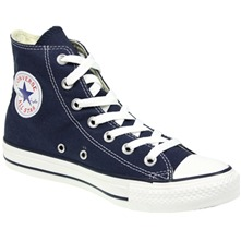 Men's Navy Canvas White Toe High Top Trainers