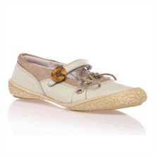 Ballerines  beiges en cuir