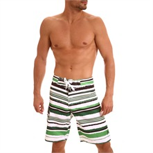 Boardshort Michoko blanc  rayures