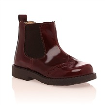 Bottines vernies rouge