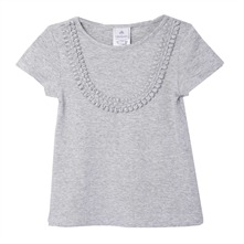 T-shirt  gris chiné