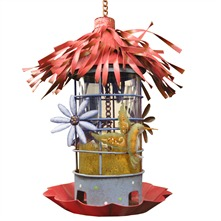 Red/Blue Garden Bird Feeder