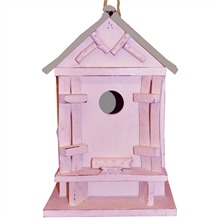 Pink Decorative Garden Bird House