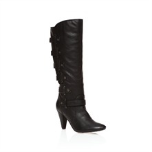 Black Knee High Boots 9cm Heel