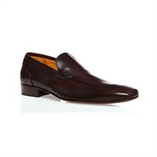 Dark Brown Leather Loafers 2.5cm Heel