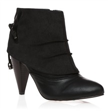 Black Heeled Ankle Boots 9cm Heel