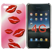 Kiss - Plastic case voor iPhone 4 - roze