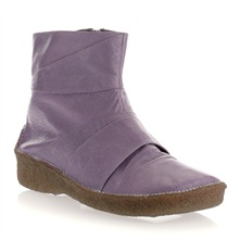 Purple Leather Moonmin Pleated Boots