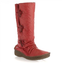 Red Leather Moonshine Toggle Boots