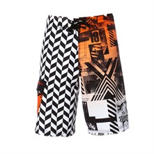 Boardshort Dunto orange et noir