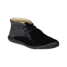 Black Bertha Suede Ankle Boots