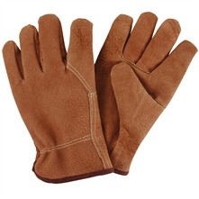 Tan Grain Leather Garden Gloves
