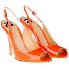 Orange Patent Leather Stiletto Shoes 6cm Heel