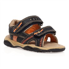 Boy's Navy Blue Rip Tape Sandals