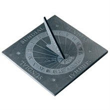 Slate Engraved Square Sundial