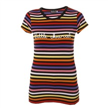 T-shirt ray noir et multicolore