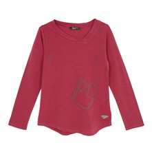 T-shirt fantaisie fuschia