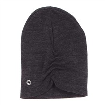 Snood et bonnet gris chiné