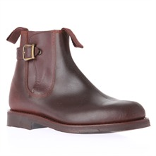 Dark Brown Leather Chelsea Boots 3cm Heel