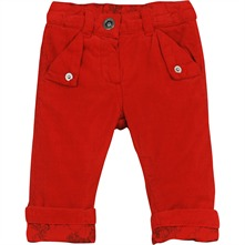 Pantalon en velours rouge