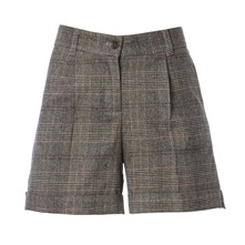 Short  à carreaux taupe