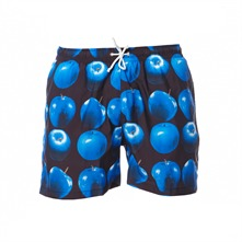 Short de bain imprim noir et bleu