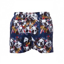 Short de bain imprim marine