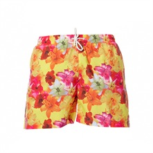 Short de bain imprim jaune