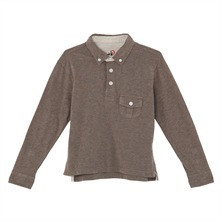 Polo taupe chiné
