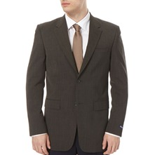 Charcoal Long Buckingham Plain Twill Jacket