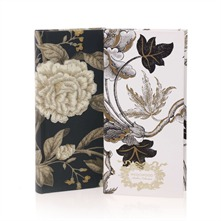 Lot de 2 carnets de note Sanderson Peony & Wedgwood Gilded