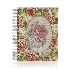 Carnet de notes  spirales Shabby Rose